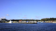 Seaport of Ustka, Poland Stock Footage