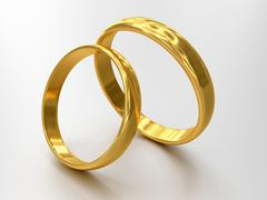 Illustration of two wedding rings - stock illustration