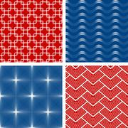 Set of four seamless patterns - stock illustration