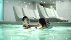 Swimming Lesson Stock Footage