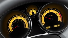 Car Acceleration. Vehicle Dashboard - stock footage