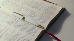 Bible Study Background 2 Stock Footage