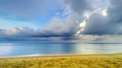 Beautiful Tropical Beach with Clouds Time Lapse - 25p 4k Stock Footage