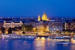 Budapest at Night Stock Photos