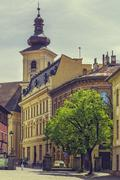 The Huet Square, Sibiu, Romania Stock Photos
