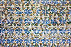 Azulejos Tiles in Mudejar Style Background Stock Photos