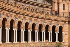 Plaza de Espana Colonnade in Seville - stock photo