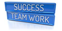 Success Team Work - 3D Render - Isolated Stock Illustration