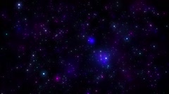 Fly Through Colorful Blinking Particles Space Galaxy - stock footage