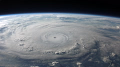 Aerial view of a hurricane from space Stock Footage