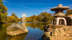 4K time-lapse of Chicago's Jackson Park and Museum of Science and Industry Stock Footage