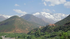 Atlas mountains Morocco view Stock Footage