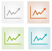 Stock Illustration of growing graph icons
