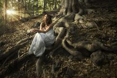 Fairy of the forest Stock Photos