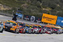 IMSA 2015:   Continental Tire Sportscar Challenge May 01 Stock Photos