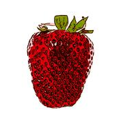 Stock Illustration of Sweet Tasty Strawberry. Vector Illustration. EPS10