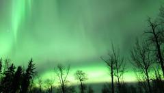 Aurora Borealis (Northern Lights) time lapse movie Stock Footage