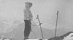 Switzerland 1950s: man during an expedition in the Alps - stock footage