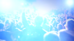 Concert people stadium 1 Stock Footage