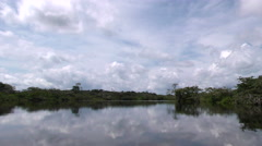 Laguna Grande, or Big Lagoon popular touristic destination in Ecuadorian Stock Footage