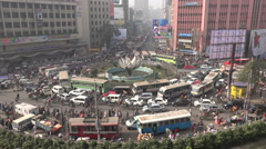 Traffic jam in the Motijheel financial and business district in Dhaka Stock Footage