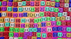 Abstract dice in various colors Stock Footage
