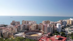 High view of Malaga city Stock Footage