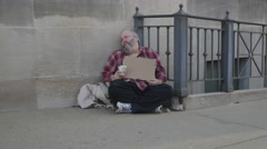 Homeless Man 4k Released - stock footage