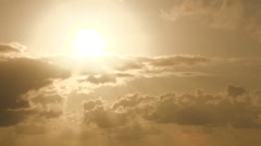 Sunset and Incredible Clouds Time Lapse - stock footage