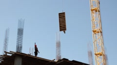 Stock Video Footage of Construction. Building. Crane.