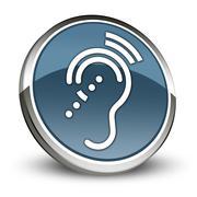 Icon, Button, Pictogram Hearing Impairrment Stock Illustration