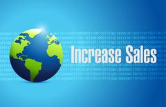 Stock Illustration of increase sales international sign concept