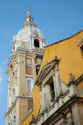 Historic Cathedral in Cartagena - stock photo
