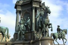 Maria Theresa Monument, Vienna, Austria - stock photo