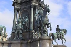 Maria Teresa Monument In Vienna Stock Photos