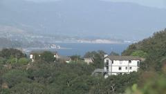Zoom In California Coast Ocean View Hills Santa Barbara Stock Footage