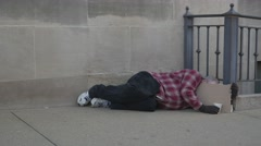 Homeless Man 4k Released Stock Footage