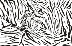 Tiger pattern background Stock Illustration