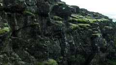 Trench with Rocks and Moss in ICELAND Stock Footage