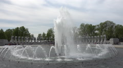 World War II Memorial fountain center Washington DC 4K 044 Stock Footage