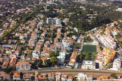 Aerial view of Estoril near Lisbon in Portugal - stock photo