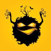 Stock Illustration of frightening monster. nightmares concept