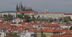 Panorama of Prague Castle (4K) - stock footage
