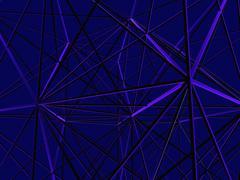 Stock Illustration of Abstract line construction digital art