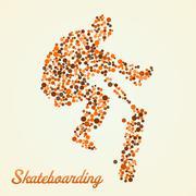 Abstract skateboarder in jump Stock Illustration