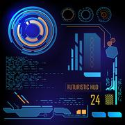 Stock Illustration of Futuristic user interface HUD