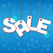 Winter Sale Stock Illustration