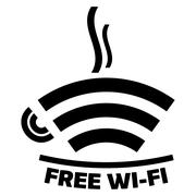 Free wi-fi cafe icon Stock Illustration