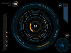 Futuristic user interface HUD Stock Illustration