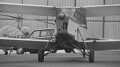England 1970s: small aircraft parking Stock Footage